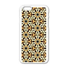 Faux Animal Print Pattern Apple Iphone 6 White Enamel Case