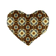 Faux Animal Print Pattern 16  Premium Flano Heart Shape Cushion