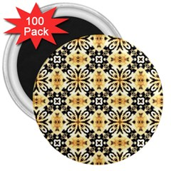 Faux Animal Print Pattern 3  Button Magnet (100 Pack)