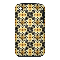 Faux Animal Print Pattern Apple Iphone 3g/3gs Hardshell Case (pc+silicone)