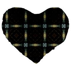 Faux Animal Print Pattern 19  Premium Flano Heart Shape Cushion