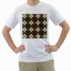 Faux Animal Print Pattern Men s T-Shirt (White)
