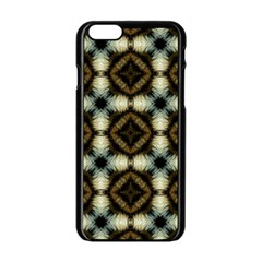 Faux Animal Print Pattern Apple iPhone 6 Black Enamel Case