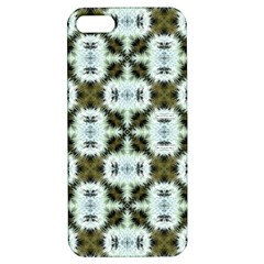 Faux Animal Print Pattern Apple Iphone 5 Hardshell Case With Stand