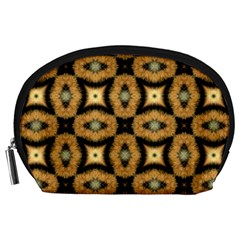 Faux Animal Print Pattern Accessory Pouch (Large)