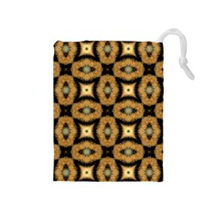 Faux Animal Print Pattern Drawstring Pouch (medium)