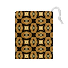 Faux Animal Print Pattern Drawstring Pouch (Large)