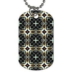 Faux Animal Print Pattern Dog Tag (two Sided)