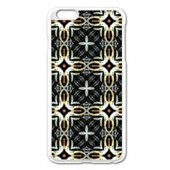 Faux Animal Print Pattern Apple iPhone 6 Plus Enamel White Case