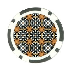 Faux Animal Print Pattern Poker Chip
