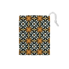 Faux Animal Print Pattern Drawstring Pouch (small)