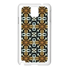 Faux Animal Print Pattern Samsung Galaxy Note 3 N9005 Case (white)