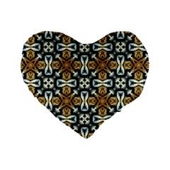 Faux Animal Print Pattern 16  Premium Flano Heart Shape Cushion