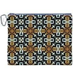 Faux Animal Print Pattern Canvas Cosmetic Bag (xxxl)