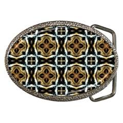 Faux Animal Print Pattern Belt Buckle (oval)