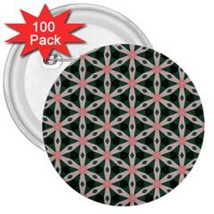 Cute Pretty Elegant Pattern 3  Button (100 Pack)