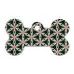 Cute Pretty Elegant Pattern Dog Tag Bone (Two Sided) Back