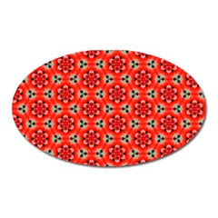 Cute Pretty Elegant Pattern Magnet (oval)