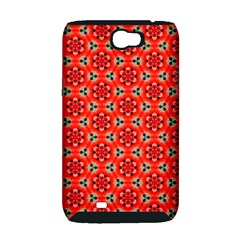 Cute Pretty Elegant Pattern Samsung Galaxy Note 2 Hardshell Case (PC+Silicone)