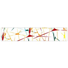 Colorful Splatter Print Flano Scarf (Small)