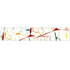 Colorful Splatter Print Flano Scarf (large)
