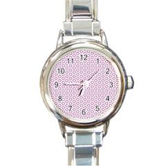 Cute Pretty Elegant Pattern Round Italian Charm Watch