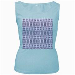 Cute Pretty Elegant Pattern Women s Tank Top (baby Blue)