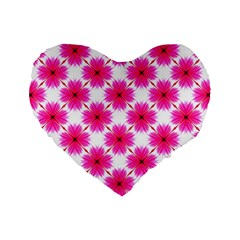 Cute Pretty Elegant Pattern 16  Premium Flano Heart Shape Cushion