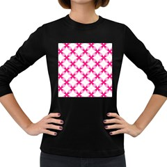 Cute Pretty Elegant Pattern Women s Long Sleeve T-shirt (Dark Colored)
