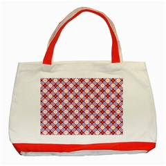 Cute Pretty Elegant Pattern Classic Tote Bag (Red)