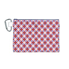 Cute Pretty Elegant Pattern Canvas Cosmetic Bag (Medium)