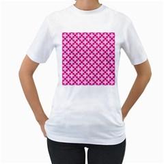 Cute Pretty Elegant Pattern Women s T-Shirt (White)