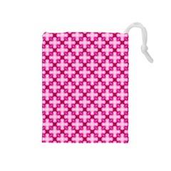 Cute Pretty Elegant Pattern Drawstring Pouch (Medium)