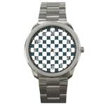 Cute Pretty Elegant Pattern Sport Metal Watch Front