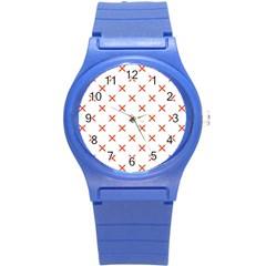 Cute Pretty Elegant Pattern Plastic Sport Watch (small)