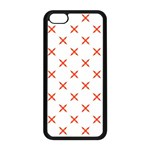 Cute Pretty Elegant Pattern Apple iPhone 5C Seamless Case (Black) Front
