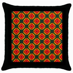 Cute Pretty Elegant Pattern Black Throw Pillow Case