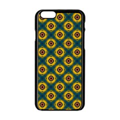 Cute Pretty Elegant Pattern Apple iPhone 6 Black Enamel Case