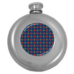 Cute Pretty Elegant Pattern Hip Flask (round)
