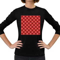 Cute Pretty Elegant Pattern Women s Long Sleeve T Shirt (dark Colored)