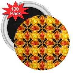Cute Pretty Elegant Pattern 3  Button Magnet (100 Pack)