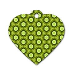 Cute Pretty Elegant Pattern Dog Tag Heart (one Sided)