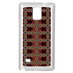 Cute Pretty Elegant Pattern Samsung Galaxy Note 4 Case (White)