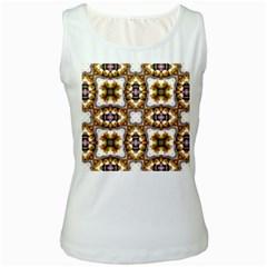 Cute Pretty Elegant Pattern Women s Tank Top (white)