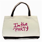 I Am The Party Typographic Design Quote Classic Tote Bag Front