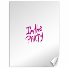 I Am The Party Typographic Design Quote Canvas 36  X 48  (unframed)