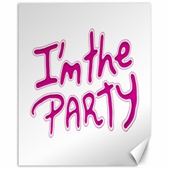 I Am The Party Typographic Design Quote Canvas 11  X 14  (unframed)