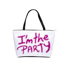 I Am The Party Typographic Design Quote Large Shoulder Bag