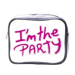 I Am The Party Typographic Design Quote Mini Travel Toiletry Bag (one Side)