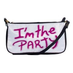 I Am The Party Typographic Design Quote Evening Bag